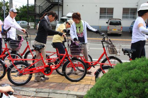 大地の風と江別野菜の自転車ツアー